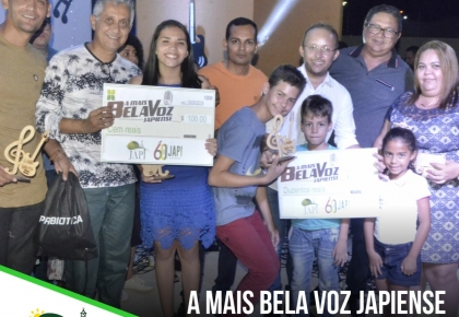 Prefeitura promove concurso A Mais Bela Voz Japiense 2019