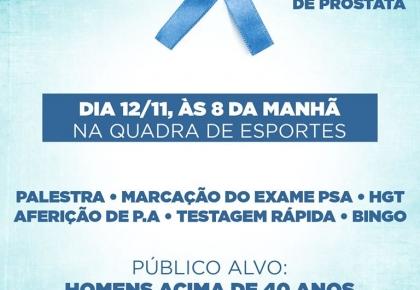 """A Secretaria de Saúde de Japi participa da campanha """"Novembro Azul""""."""