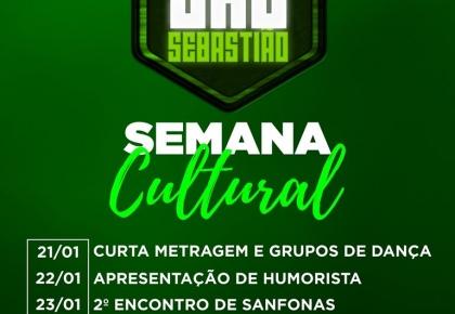 Confira a programação da Semana Cultural da festa do padroeiro São Sebastião