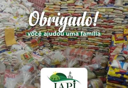 Prefeitura iniciou entregas dos alimentos arrecadados em troca de ingressos da festa social do padroeiro.