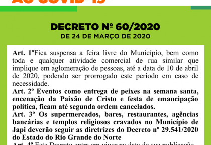 INFORMATIVO Nº 06 COVID/19