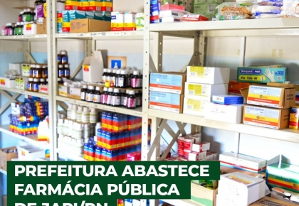 Prefeitura investe na saúde abastecendo a farmácia.