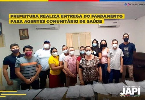 Entrega do fardamento aos agentes comunitários de saúde